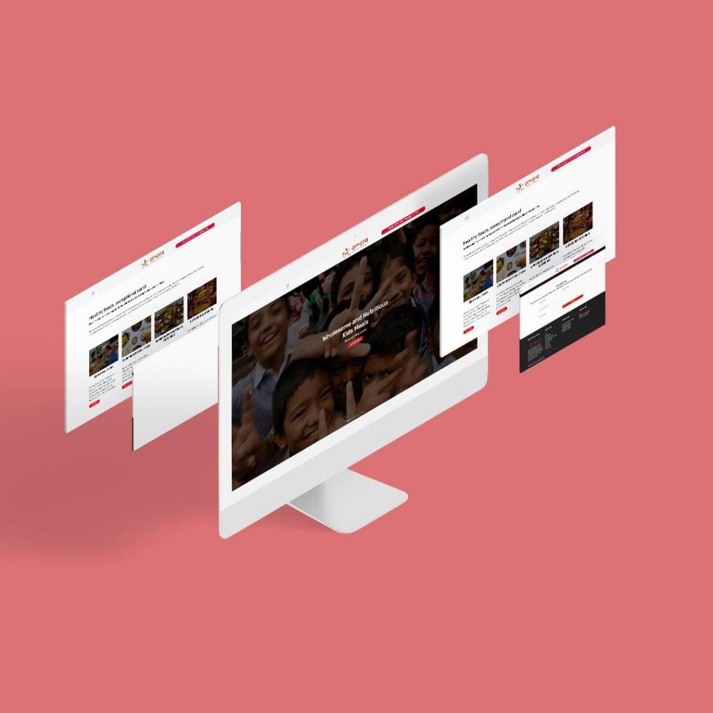 Website Design for amorafoods chennai