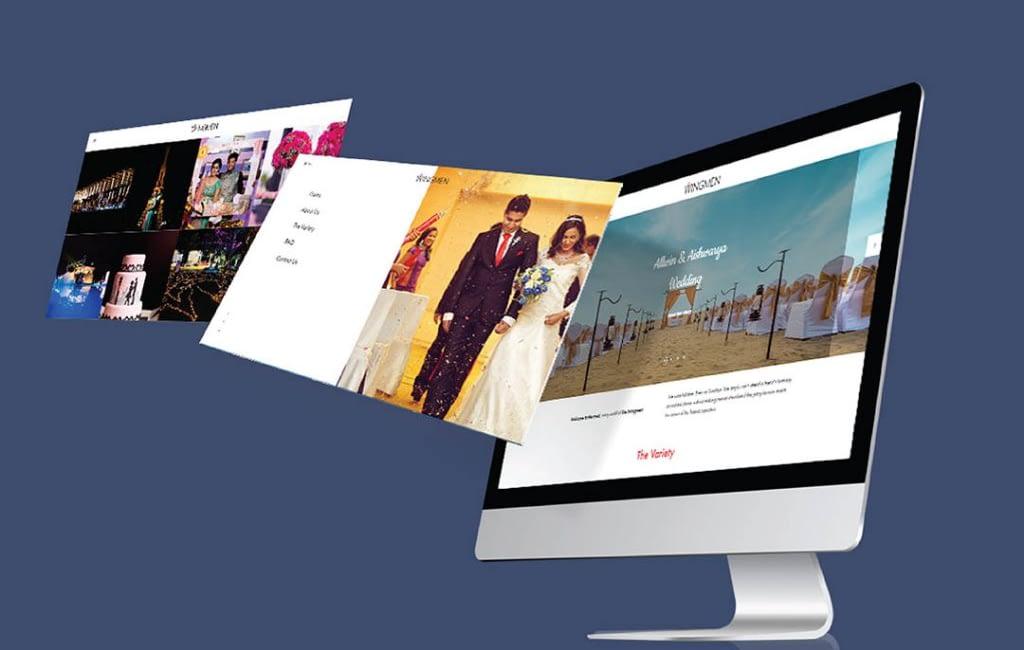 Website Designing for wingmen event chennai